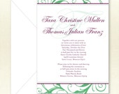 Wedding Invitation - Scroll Border