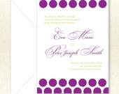 Wedding Invitation - Plum and Chartreuse Elegant Eva