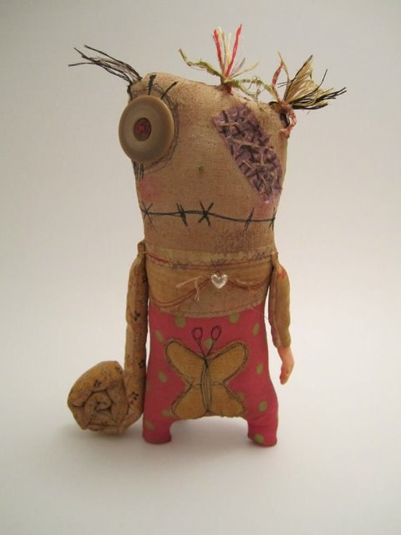 Handmade grungy Monster Dolly (MACY)