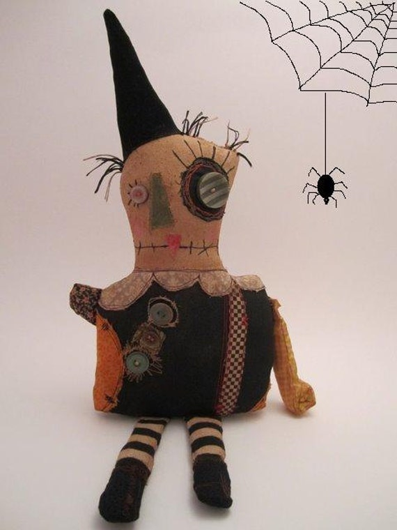 Handmade Grungy lil Witch Monster (HILDIE)