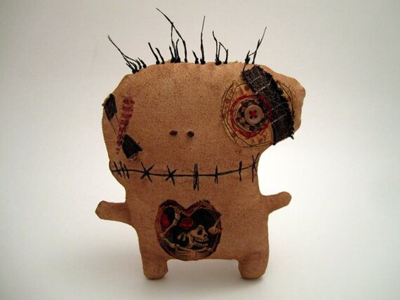 Handmade grungy monster doll (Flick)