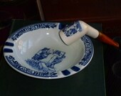 Holland Tobacco Pipe and Ashtray