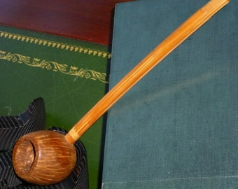 Vintage native wood pipe  from Caribbean island