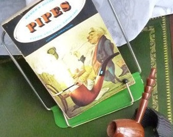 Vintage Wood Pipe with a Weber's Original Edition Book