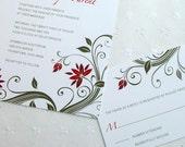 EDEN - Floral Wedding Invitation Sample Set