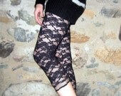 Black Lace 3/4 Legging Xsmall/Small by Vicmes Clothing