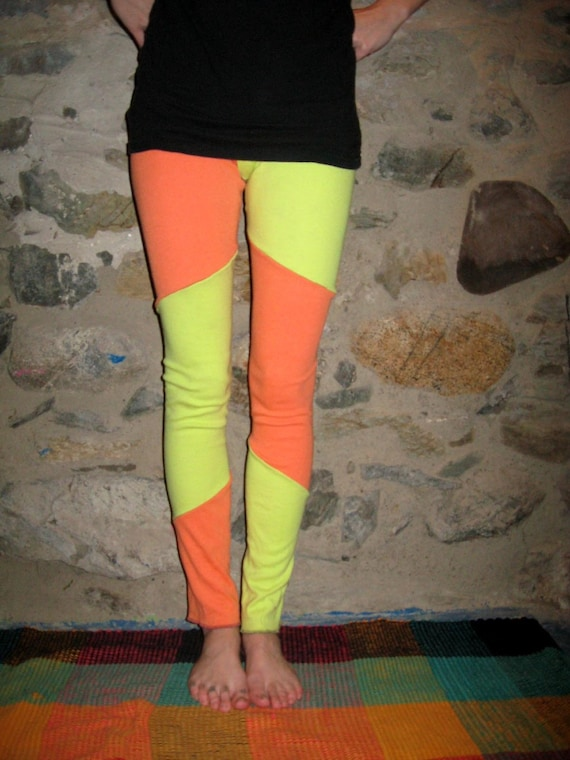 MOVING SALE 2012 SALE 80s Neon Reversible Legging/Pants Small/Medium By Vicmes Clothing