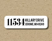 Custom return address labels, self-adhesive return address sticker, address only, return address sticker with no names
