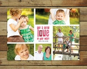 Valentine's Day Card - put a little love in your heart - geometric photo collage