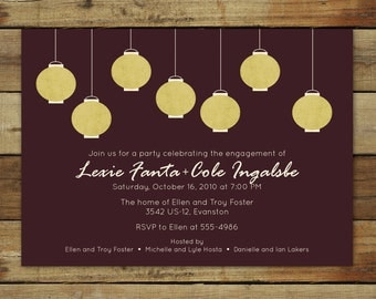 Paper Lanterns . . . a custom photo party invitation or save the date