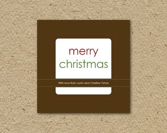 ... printable Christmas gift tags, stitched, editable instant download