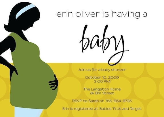 A hip baby shower invitation or thank you note