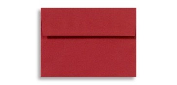 A6 red envelopes - perfect for 4 x 6 photos and cards, quantity 25, RUBY