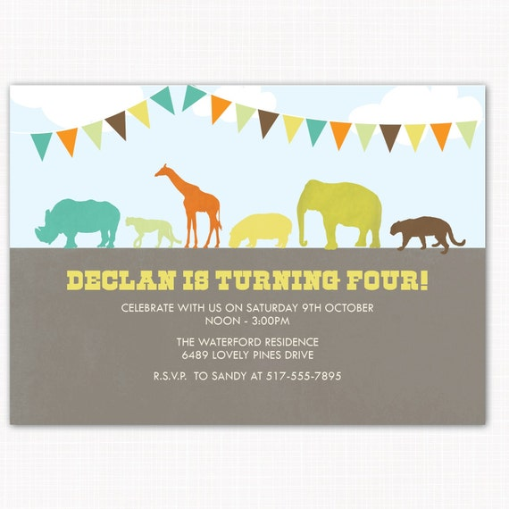zoo birthday party invitation perfect for zoo jungle or, Einladung