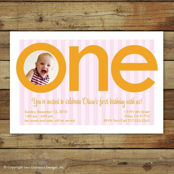 first birthday party invitation, birthday girl, first birthday invitation, number one, first birthday photo card FREE OVERNIGHT SHIPPING