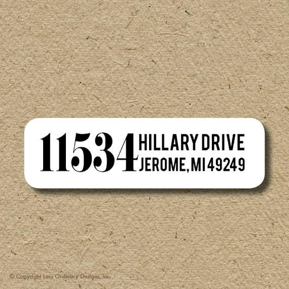 House number return address labels, self-adhesive return address sticker