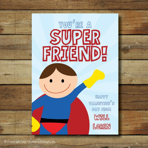 super hero valentine's day card boy superhero, Ideas