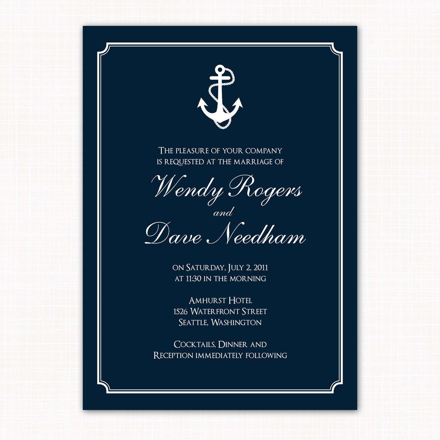 Nautical themed wedding invitation anchors by saralukecreative for Etsy engagement party invites