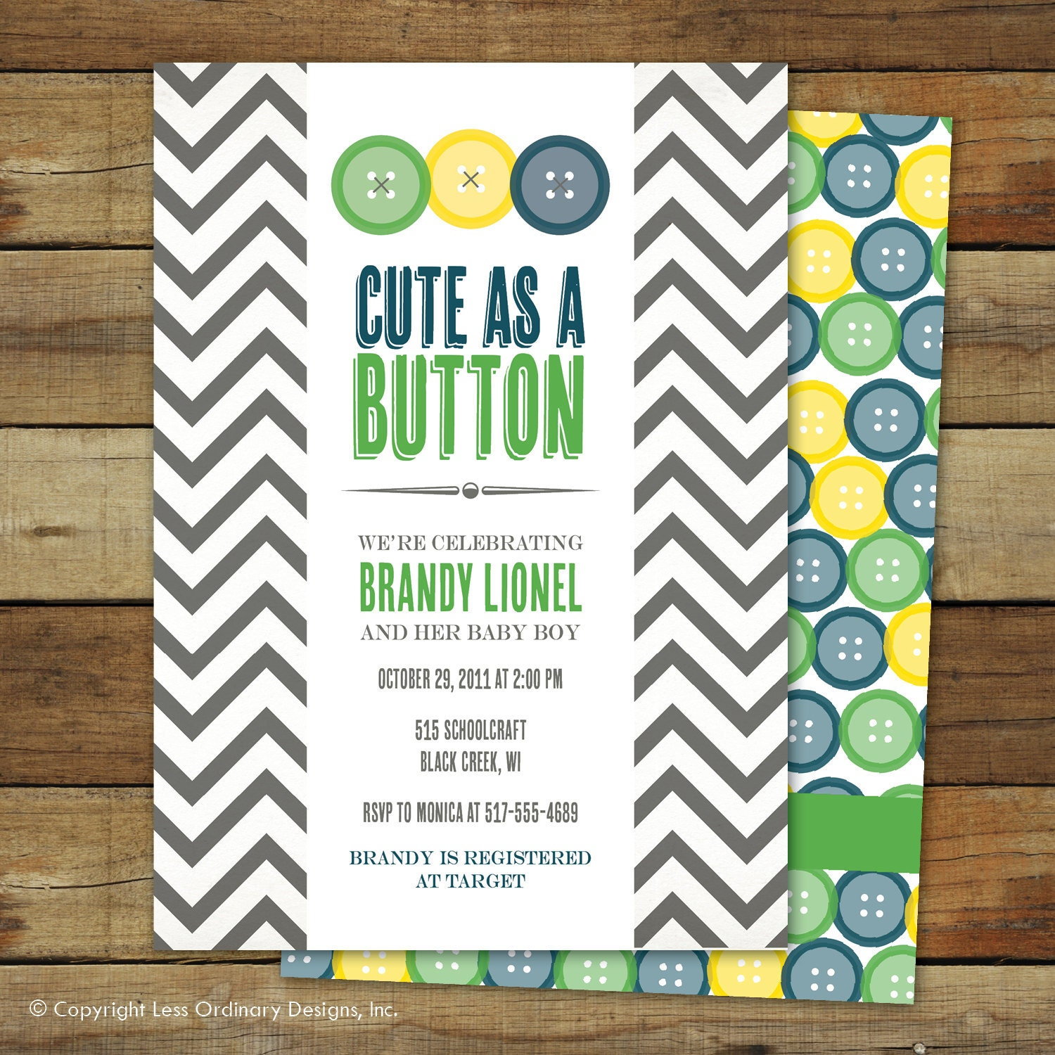 Baby Shower Boy Invitation: Cute As A Button Baby Shower Invitation Baby Boy Matching