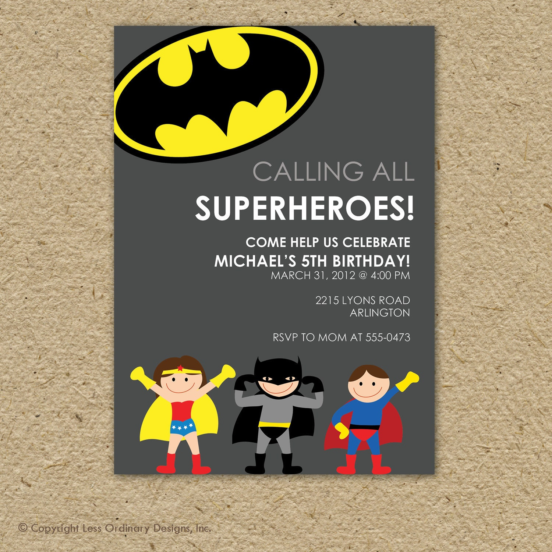 Batman Super Hero Birthday Party