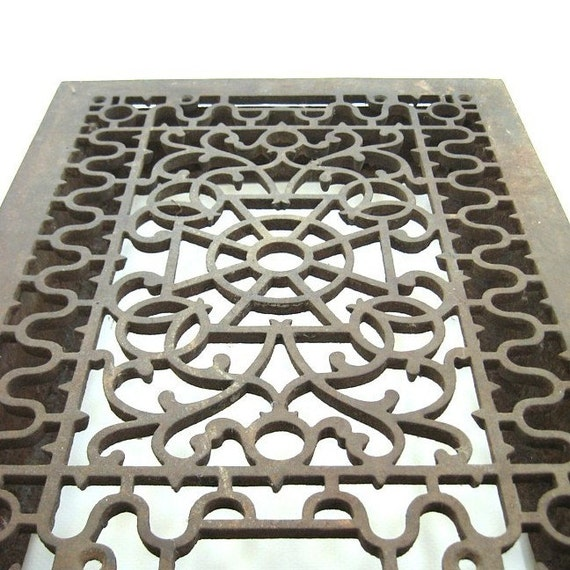 Decorative Cast Iron Grates : Antique cast iron heating grate decorative cover