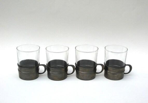 SKS Design Rein Zinn Pewter Cups - Vintage Set of Four - Germany