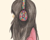 print music girl headphones-lost