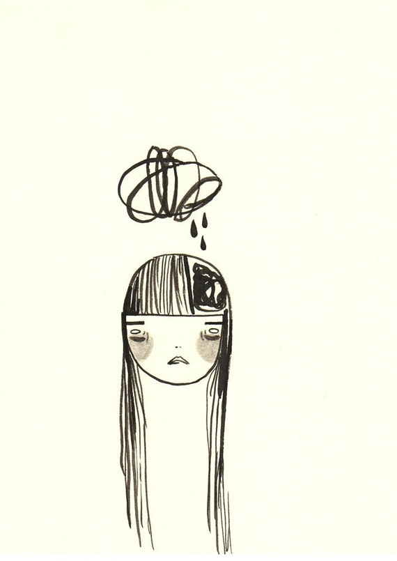 original illustration- my sadness