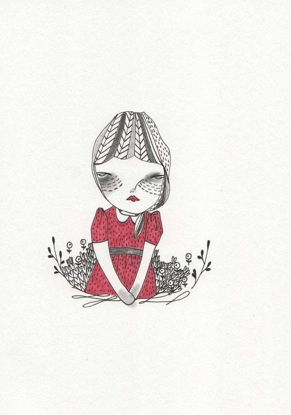 daughter original illustration