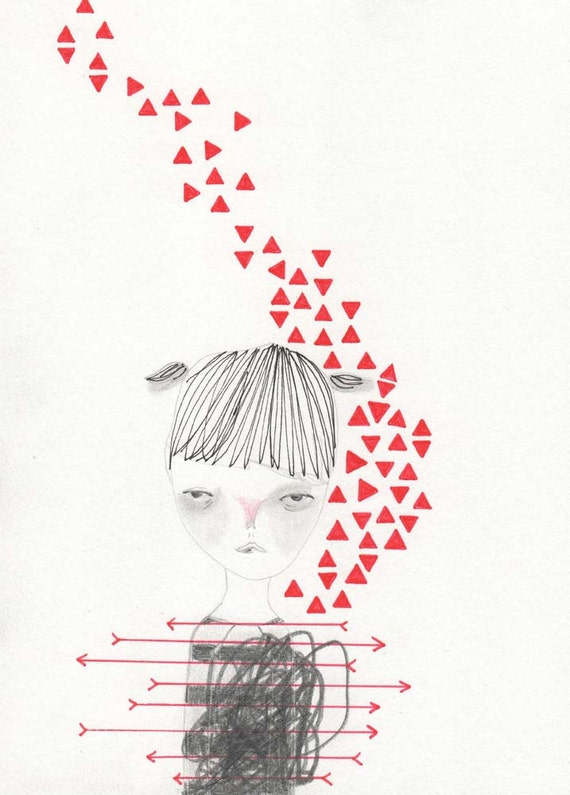 drawing illustration original girl pencil-scramble