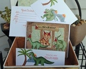 Dino Party - Party organizing in a box (invatations, placecards, thank-you notes) - On Sale