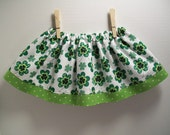 RESERVED St. Patrick's Day Skirt and Bowtie Set