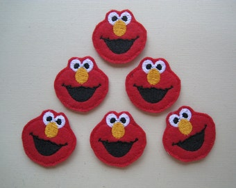 Red Monster with a Big Nose Felt Embellishment - 095