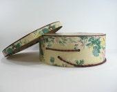 RESERVED LISTING Vintage Floral Hat Box