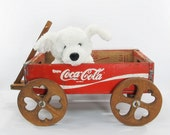 RESERVED LISTING Vintage Coca Cola Crate Wagon