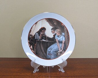 Vintage Norman Rockwell Plate Young Love Series 1982