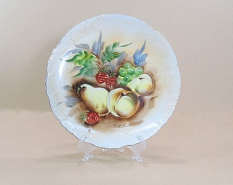 Vintage Display Plate, Fruit Plate, Kitchen Wall Plate, Wall Decor