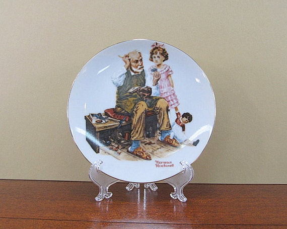 Norman Rockwell Plate The Cobbler