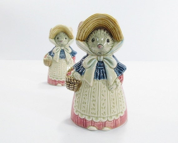 Vintage Mouse Salt and Pepper Shakers