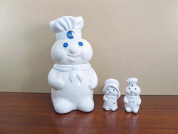 Vintage Cookie Jar Set Pillsbury Doughboy 1988