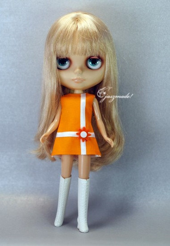 STOCK ITEM Orange Mod Dress for Blythe