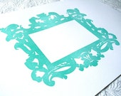 Horizontal Letterpress Frame Mat in Water