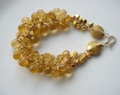 RESERVED-- for Aarthy--j' adore -CLEARANCE--- Citrine bracelet in 24k vermeil