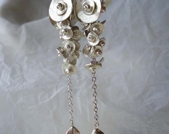 SALE--Silveria earrings II--sterling silver,fine silver earrings