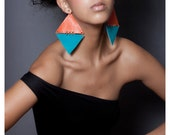 Diamonds are forever leather and suede earrings Made from repurposed leather