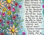 Bahai Prayer for girls - Fine Art Print