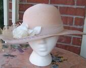 Vintage Beige Sturdy but Very Classy Summer Straw Hat -