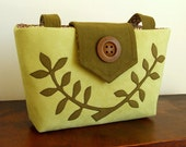 The Two Tone Wayfarer Purse with a Leafed Branch Applique