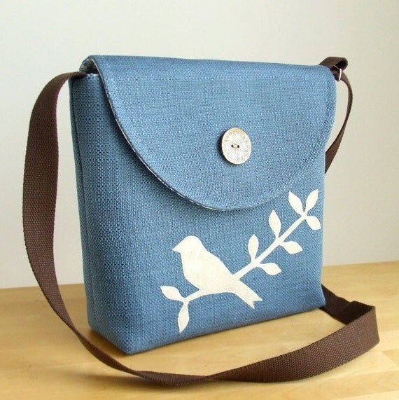 The Offbeat Messenger with a Bird on a Branch Applique