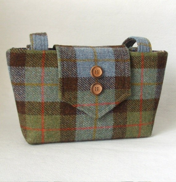 SALE Harris Tweed Bag - Purse in a Macleod Check Weave